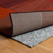 plush area rug pad recycled non slip carpet padding flooring mat 3 8 inch thick