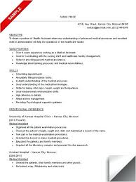 Medical Assistant Resume Objective – Armni.co