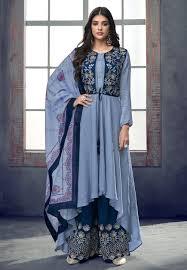 Punjabi Suit With Long Jacket Design Jacket Style Salwar Kameez Buy Jacket Style Salwar Kameez