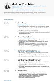 General Manager Resume samples