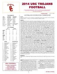 Usc Depth Chart 2014 2014 Usc Tr Oj Ans