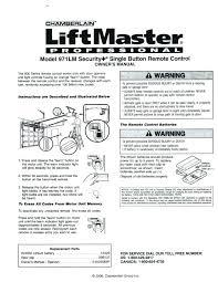 liftmaster garage door keypad opener battery remote programming setup