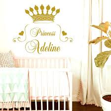 monogram wall decals for nursery home decor e princess crown wall decal heart custom home decor