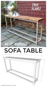 Simple Sofa Table Free Plans Jaime Costiglio