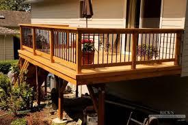 outdoor deck railings ideas. outdoor \u0026 garden: great deck railing ideas for raised wooden featuring decorative planter pot railings