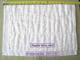 Osocozy Indian Cotton Prefold Cloth Diapers Bleached Dozen
