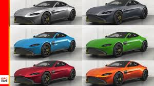 Aston Martin Color Chart 2018 Aston Martin Vantage Colors