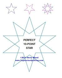 Star Quilting Templates & Patterns – TopAnchor Quilting Tools & PentaStar LA Longarm Quilting Templates 1/4