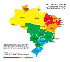 Map From Finland To Palestine Brazilian States Compared