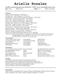 Collection Of Solutions Dance Resume Templates On Drama Coach Sample