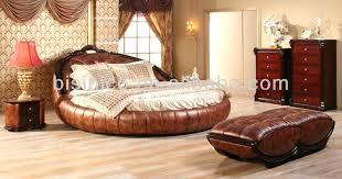 Leather Bedroom Contemporary Luxury Bedroom Furniture Set Golden