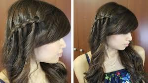 Layered Braids Hairstyles Boho Waterfall Twist Hairstyle For Medium Long Hair Tutorial Youtube