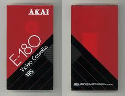 VAULT OF <b>VHS</b> — Akai <b>E</b>-180 Video Cassette <b>VHS</b> Tape