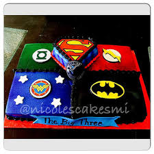 superhero sheet cake justice league cake buttercream with some edible images and some