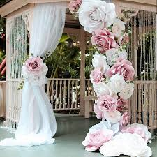 Paper Flower Wedding Backdrops Wedding Backdrops Arches Quirky Parties