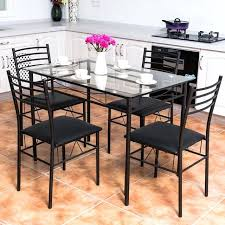 5 pc dining set with bench dining set modern dining room red gl top table 4