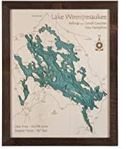 Amazon Com Wooden Bathymetric Maps