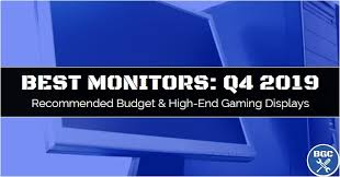 Gaming Pc Comparison Chart Best Monitors For Gaming Pcs Q4 2019 Comparison Chart