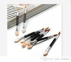 whole fashion cosmetic brushes women makeup eyeshadow eyeliner sponge lip brush set applicator beauty double ended disposable brush sets makeup