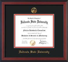 valdosta state university diploma frames official diploma frames image of valdosta state university diploma frame cherry reverse w embossed seal