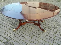 antique circular mahogany extending dining table