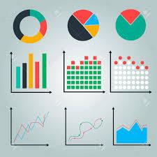 Graphs Charts Line Graph Pie Chart Round Chart