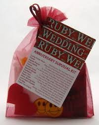 image is loading ruby 40th wedding anniversary survival kit novelty gift