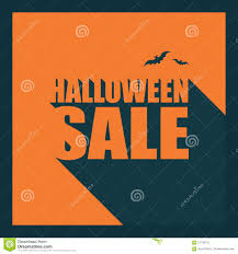 halloween sale flyer halloween sale poster template special holiday stock vector