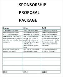 Proposal For Sponsorship Template Unique Fundraising Sample Sport Event Sponsorship Proposal Template Free
