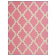 glamour collection contemporary moroccan trellis design pink