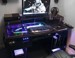 gaming computer desk. Contemporary Desk Inside Gaming Computer Desk A