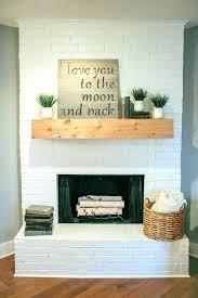 brick fireplace mantel decor ating white