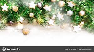 Holiday Branches With Lights Holiday Background Frame Fir Tree Branches Golden