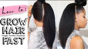 How To Grow Hair Long Thick Healthy Fast 4 Easy Steps Youtube How To Make Short African Hair Grow Fast
