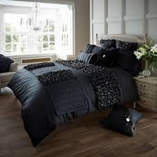 charming black bedding set bear king all sets queen full silk sheets double and raiders size