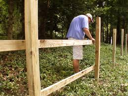 how to attach fence rails