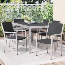 aluminum patio furniture. Beautiful Aluminum Durbin 7 Piece Aluminum Dining Set For Patio Furniture AllModern
