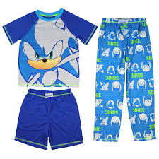 Shop Sonic The Hedgehog Boys' Pajamas 3 Piece Shirt Shorts And Pants Video  Game Sleepwear Loungewear Pajama Set - Overstock - 31258750