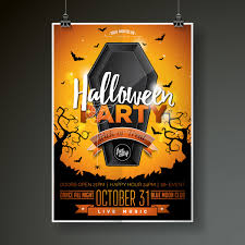 Halloween Dance Flyer Templates Halloween Flyer With Poster Cover Template Vector 04 Free