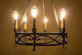 led vintage light bulb shape radio style candelabra with filament installed in chandelier candle bulbs for
