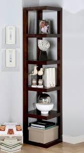 Dark Wood Corner Shelves