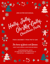 Design Own Party Invitations Jolly Christmas Party Invitation Template