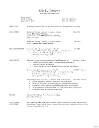 Teaching Resume Template Sample Elementary Teacher Resume Resumes Designed For Teachers And 10