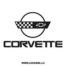 Sticker Karbon Chevrolet Corvette Logo 3