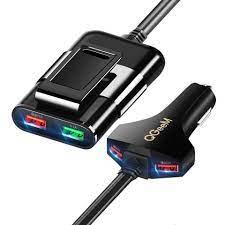 Củ sạc ô tô QGeeM 4 cổng USB QC 3.0 sạc mặt trước và sau ghế - Hàng Chính  Hãng - Adapter sạc - Củ sạc xe hơi