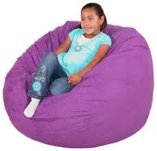 Furniture: Adorable Purple Kids Bean Bag Chairs - Huge Bean Bag Chairs