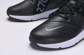 mens shoes nike air max 270 premium leather black sail metallic cool grey light carbon ao8283