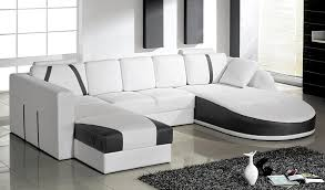 Tosh Furniture Ultra Modern Sectional Sofa Set in White Flap Stores