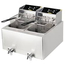 buffalo double fryer 2 x 8ltr 6kw with timer
