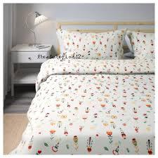 new quilt cover w 2 pillow cases ikea swedish folk pattern all cotton full queen
